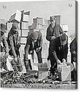 Prohibition Feds Destroy Liquor  1923 Acrylic Print by Daniel Hagerman