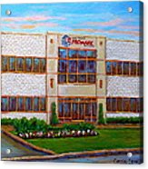 Promark Electronics 215 Voyageur Street Pointe Claire Montreal Scene Acrylic Print
