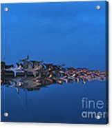 Promenade In Blue  Acrylic Print