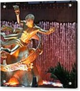 Prometheus Statue - Rockefeller Center Nyc Acrylic Print