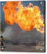 Propane Burn Acrylic Print by Steven Townsend
