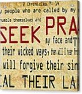 Prophetic Call  Acrylic Print