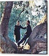 Proposing In A Tree Acrylic Print