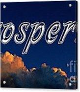 Prosperity Acrylic Print