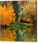 Prosser - Fall Reflection With Hills Acrylic Print