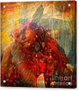 Protected - God Is Watching Evil Watching Me Acrylic Print