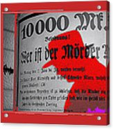Proto Film Noir Peter Lorre Fritz Lang M 1931  Screen Capture Poster 2013 Acrylic Print