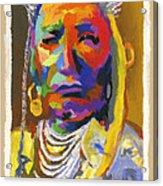 Proud Native American Acrylic Print
