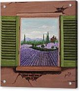 Provence Lavander Fields Original Acrylic Acrylic Print