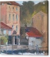Provence Village Stream Acrylic Print