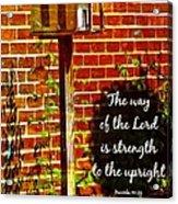 Proverbs 10 29 Acrylic Print