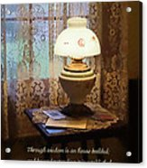 Proverbs 24 3 Through Wisdom Is An House Builded Acrylic Print