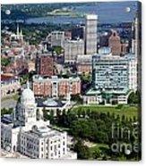 Providence Rhode Island Downtown Skyline Aerial Acrylic Print