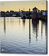 Providence Waterfront Acrylic Print by Andrew Pacheco