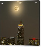 Prudential Tower With Supermoon 2013 Acrylic Print