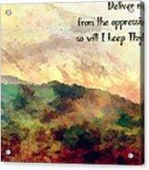 Psalm 119 134 Acrylic Print