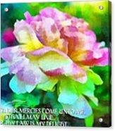 Psalm 119 77 Acrylic Print