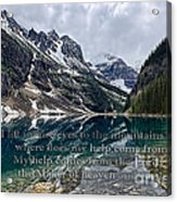 Psalm 121 With Mountains Acrylic Print