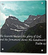 Psalm 19 1 On The Rocky Mountains Acrylic Print