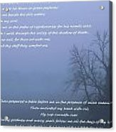 Psalm 23 Foggy Morning Acrylic Print