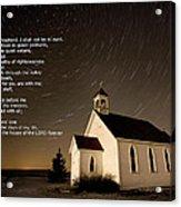Psalm 23 Night Photography Star Trails Acrylic Print