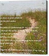 Psalm 23 Path  Acrylic Print