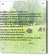 Psalm 23 The Lord Is My Shepherd Acrylic Print