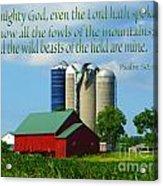 Psalm 50 Acrylic Print