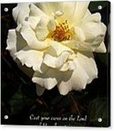 Psalm 55 22 Acrylic Print by Sara  Raber