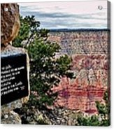 Psalm 68 - Grand Canyon Acrylic Print