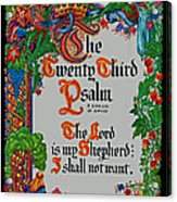 Psalms 23-1 Acrylic Print