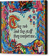 Psalms 23-4b Acrylic Print
