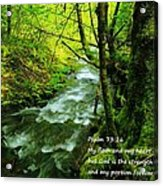 Psalms 73-26 Acrylic Print