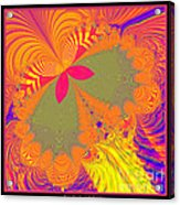 Psychedelic Butterfly Explosion Fractal 61 Acrylic Print
