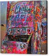 Psychedelic Cadillac Acrylic Print