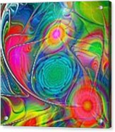 Psychedelic Colors Acrylic Print