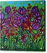 Psychedelic  Flower Garden Acrylic Print