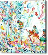 Psychedelic Goddess With Toads Acrylic Print