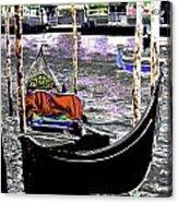 Psychedelic Gondola Venice Acrylic Print