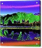 Psychedelic Lake Matheson Ner Zealand 3 Acrylic Print