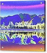 Psychedelic Lake Matheson New Zealand 2 Acrylic Print