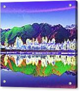 Psychedelic Lake Matheson New Zealand Acrylic Print