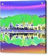 Psychedelic Mirror Lake New Zealand 3 Acrylic Print