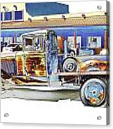 Psychedelic Old Pickup Truck Acrylic Print