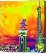 Psychedelic Paris Acrylic Print