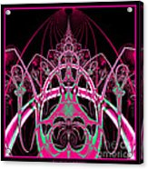 Psychedelic Rollercoaster Tunnel Fractal 65 Acrylic Print