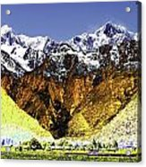 Psychedelic Southern Alps New Zealand Acrylic Print