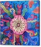 Psychedelic Squid 2 Acrylic Print