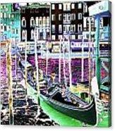 Psychedelic Venetian Scene Acrylic Print