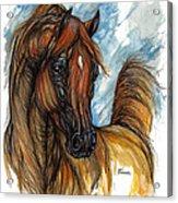 Psychodelic Chestnut Horse Original Painting 2 Acrylic Print